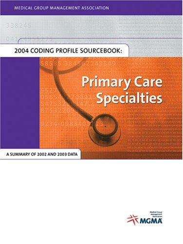 Download 2004 MGMA Coding Profile Sourcebook