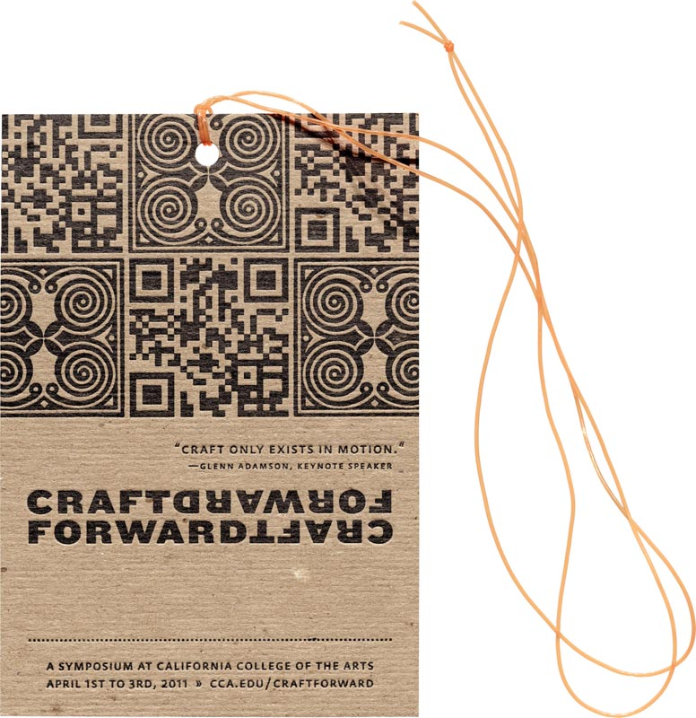 Design is Play, CCA Craftforward Hanging Tags, San Francisco, 2011.